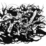 "Entity Tendril, 2013. Archival inkjet monotype on rag paper. 22"" x 17""."