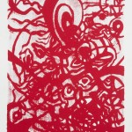 "Instinct (Red), 2009. Hand pulled serigraph on rag paper. 11.5"" x 15"". Edition of 100."