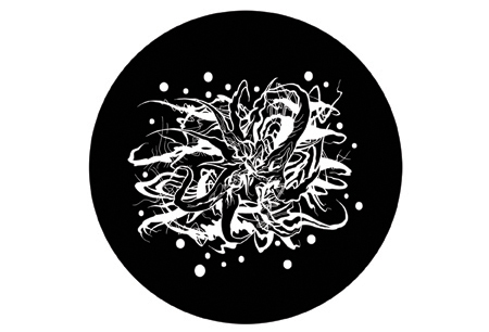 "Floating Entity, 2015. Vinyl magnet. 4"" diameter. Edition of 500."